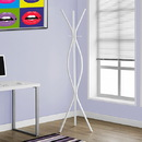 Monarch Specialties I 2050 Coat Rack - White Metal Contemporary Style, 17'' x 17'' x 72''