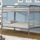 Monarch Specialties I 2230S Silver Metal Twin / Twin Bunk Bed Only