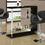 "Monarch Specialties I 2351 Black Glossy / Chrome Metal 48""L Bar Table"