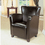 Monarch Specialties I 8075 Dark Brown Leather-Look Club Chair