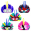 Oparty Big Size Feathered Half Masks, Assorted Colors