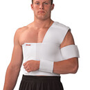 Mueller Shoulder Brace, Left, White, Sm, Bulk Bag