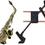 "StringSwing BHH17-3 Disp, Alto/Tenor Sax Holder Blk3""Slatwall"