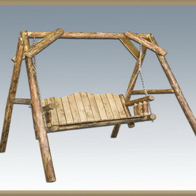 "Montana Woodworks MWGCLS Lawn Swing w/ ""A"" Frame - Exterior Glacier Country Finish (Price/Each)"