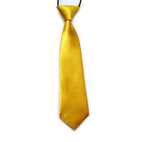 "(Price/10 Pcs)TopTie Kid's Solid Color Yellow Necktie 10"" Youth Neck Tie"