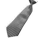 TopTie Kid's Black Vertical Stripe Neckties 10