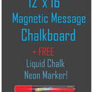 "NEOPlex CB-1216M 12"" x 16"" Magnetic Backed Kitchen Chalkboard + FREE Marker"
