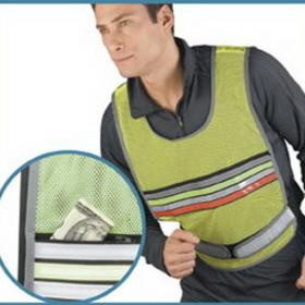Reflective Vest w/Zipper Pouch