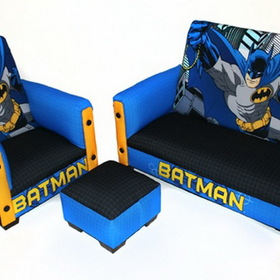 Komfy Kings 90054 Batman Deluxe Toddler Sofa, Chair and Ottoman