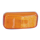 Fastenersun 1304-1196 Command Electronics Rounded Corner LED Clearance Light - Amber with White Base