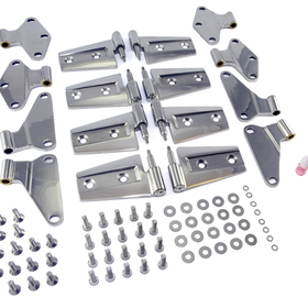 Omix-Ada  Door Hinge Kit, Stainless Steel, Rugged Ridge, Jeep Wrangler (Jk) 4 Door 07-10, Includes 8 Hinges