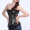 Muka Brocade Fashion Corset with Black Lace, Valentine's Gift