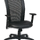 Work Smart EX1580-3 Screen Back Chair with Black Vinyl Trim and Leather Seat, Black Leather