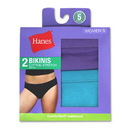 Hanes D42EAS Women's Cotton Stretch Bikinis, 2-Pack