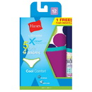 Hanes GUBKP5 Girls Ultimate X-Temp Bikini P4 +1 Bonus Pack