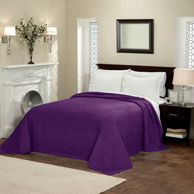 PEM America French Tile Queen Bedspread Plum