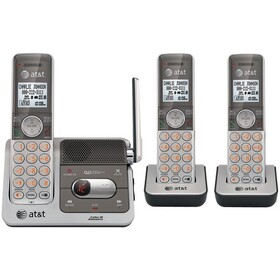 ATT ATTCL82301 DECT 6.0 Cordless Phone System with Caller ID & Digital Answering System (3-Handset System)