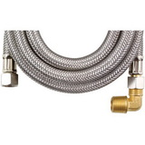 "MK472B            Braided Stainless Steel Dishwasher Connectors with Elbow (72"")"