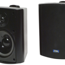 TIC CORPORATION AS P60B Indoor/Outdoor 75-Watt Speakers with 70 Volt Switching (Black)
