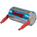 Tenergy Propel Industrial Grade Sub C Cell Rechargeable High Drain 10C NiMH Battery 3800mAh with Tabs