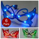 Assorted Colors Butterfly Light UP LED Glasses, Party Glasses, Christmas Gift 2012