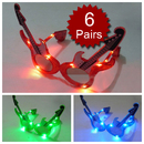 Assorted Colors Guitar Light UP LED Glasses, Party Glasses, Christmas Gift 2012