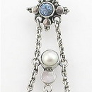 """Painful Pleasures BAN008 14g 3/8"""" Elegant Sterling Silver Bali Belly Button Ring"""