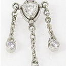 """Painful Pleasures BAN013 14g 7/16"""" Trinity Bali Sterling Silver Belly Button Ring"""