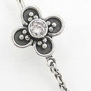 """Painful Pleasures BAN015 14g 3/8"""" Flower Bali Sterling Silver Belly Button Ring"""