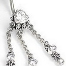 """Painful Pleasures BAN038 14g 3/8"""" Chimera Bali Sterling Silver Belly Button Ring"""