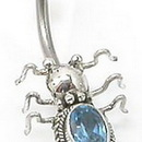 """Painful Pleasures BAN048 Ancient Bali Bug Belly Ring 14g 7/16"""" Body Piercing Jewelry"""