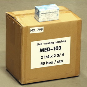 "50 Boxes Of Sterilization Self Seal 2 1/4""X 2-3/4"" (57Mmx70Mm) Autoclave Pouches - 1 Case"