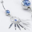 "Painful Pleasures MN0867 14g 7/16"" Dangling Wind Chimes Belly Button Ring"