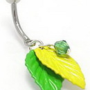 """Painful Pleasures MN0925 14g 7/16"""" Tropical Cabana Belly Button Ring"""