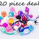 "Painful Pleasures MN1534-deal20 14g 7/16"" PTFE Flexible Belly Rings - Price Per 20"