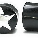 Painful Pleasures ORG006 SILVER STAR Plug Horn Organic Ear Jewelry - Price Per 1