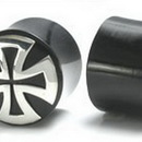 Painful Pleasures ORG012 SILVER MALTESE CROSS Plug Horn Organic Ear Jewelry - Price Per 1