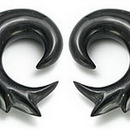 Painful Pleasures ORG071 SONIC Natural Horn Earrings Body Jewelry - Price Per 1