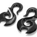 """Elementals Organics ORG074 SMOOTH SWAN Natural Horn Tunnel Hanger Body Jewelry 12g - 1/2"""" - Price Per 1"""