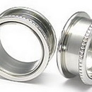Painful Pleasures P033-pb Notched Threaded Tunnels Stainless Steel Earlets - Price Per 1