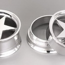 Painful Pleasures P260 Internally Threaded STAR Tunnel - Stainless Steel Lasered Star Tunnel - Price Per 1