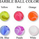 Painful Pleasures RES163 18g-16g THREADED MARBLE BALLS