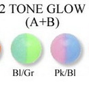 Painful Pleasures RES167 18g-16g THREADED 2 TONE GLOW A+B BALLS