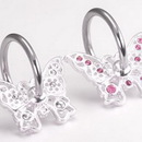 Painful Pleasures UR149 14g Jeweled Butterfly Captive Ring
