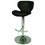 Pastel Furniture AG-219-CH-979 Aegean Coast Hydraulic Barstool, Chrome, #979-Pu Black