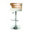 Pastel Furniture OK-217-30-CH-978-OA Oakland Swivel Stool with Arms, Chrome/Oak Veneer, #978 PU Ivory