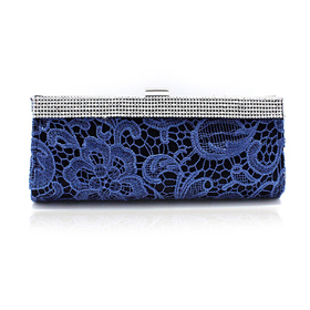 Hollow-out Flower Pattern Evening Clutch - Royal Blue