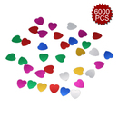 Aspire 6 Packs Glitter Party Confetti, Heart Pattern Confetti Toss, 6000pcs, Great for Party Decor, Props, Wedding, Birthday