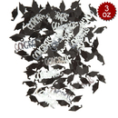 Aspire 6 Packs Congrats and Caps Boutique Confetti Table Confetti, Black and Silver, 3oz, Perfect Decoration for Grad Party