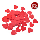 Aspire 6 Packs 6000pcs Paper Confetti Party Decoration Premium Tissue Circle Dot, Delicate Decor for Birthday Party Wedding Festival Party, Red